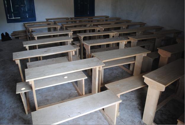 New desks for village school